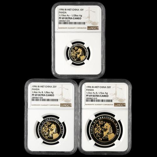 1996年熊猫双金属币