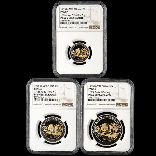 1995年熊猫双金属币