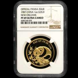 1987年1盎司中美友好金章