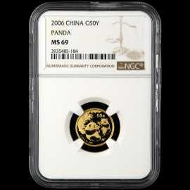 2006年1/10盎司熊猫金币