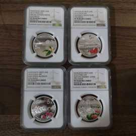 2014年1盎司西湖银币4枚一套
