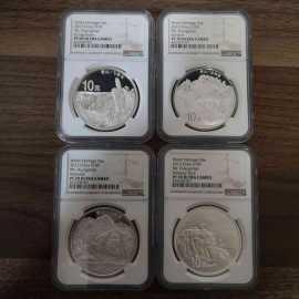2013年1盎司黄山银币4枚一套