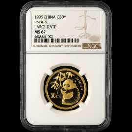 1995年1/2盎司熊猫金币(大字版)