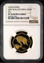 2007年1/2盎司梅花形生肖猪金币