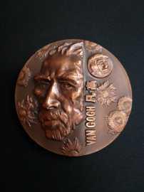 1999年凡高大铜章--上海造币厂陈坚大师20年前高浮雕精品