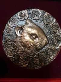 2008年上海造币厂罗永辉大师鼠年大铜章
