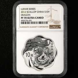 2012年1盎司梅花形生肖龙银币