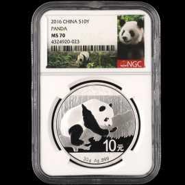 2016年30克熊猫银币
