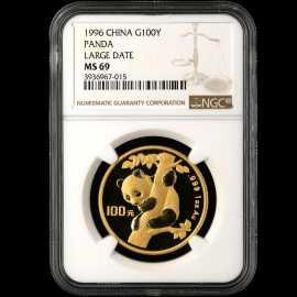 1996年1盎司熊猫金币(大字版)