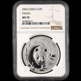 2003年1盎司熊猫银币